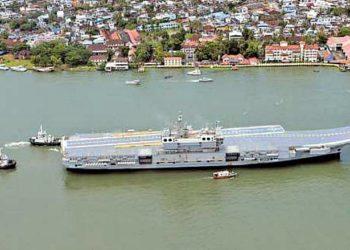 IAC1 (futuro INS Vikrant) suspendeu para seus testes de mar