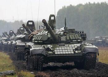 Tanques russos durante a Zapad 2017