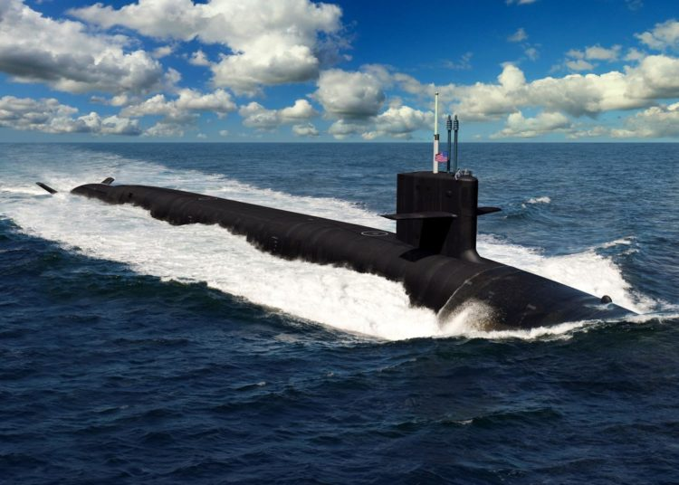 Ilustração do futuro submarino classe Columbia