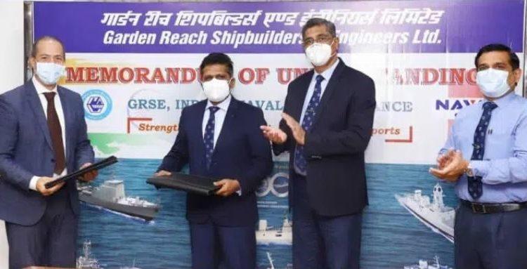 Assinatura do MOu entre o Naval Group e o GRSE da Índia. Foto GRSE