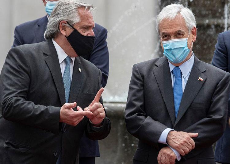 Presidentes da Argenti e do Chile - Foto Esteban Felix - AP
