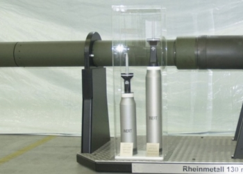 nova arma smoothbore 130 milímetros de Rheinmetall pode ser um armamento adequado para MBT futuras. Fonte Rheinmetall
