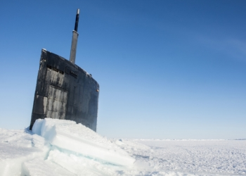 160314-N-QA919-209 ARCTIC CIRCLE (March 15, 2016) - USS Hampton (SSN 757) surfaces through the Arctic ice during Ice Exercise (ICEX) 2016. ICEX 2016 is a five-week exercise designed to research, test, and evaluate operational capabilities in the region. ICEX 2016 allows the U.S. Navy to assess operational readiness in the Arctic, increase experience in the region, advance understanding of the Arctic Environment, and develop partnerships and collaborative efforts. (U.S. Navy photo by Mass Communication Specialist 2nd Class Tyler Thompson)