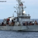 050429-N-5526M-028 Gulf of Aden (April 29, 2005) - Sailors aboard the coastal patrol ship USS Firebolt (PC 10) assist survivors rescued from the Gulf of Aden after their small vessel capsized 25 miles off the coast of Somalia. Eighty-nine people survived the incident, with 5 pronounced dead on the scene. U.S. Navy guided missile cruiser USS Normandy (CG 60), coastal patrol ship USS Typhoon (PC 5), and German frigate FGS Karlsruhe (F 212) are also assisting in the rescue effort. U.S. Navy photo by PhotographerÕs Mate 1st Class Robert R. McRill (RELEASED)